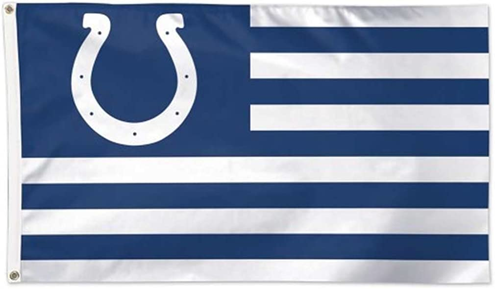 Amazon Com Wincraft Nfl Indianapolis Colts Flag3 X5 Flag Team Colors One Size Clothing