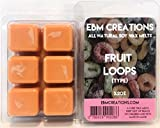 Fruit Loops (Cereal Type) - Scented All Natural Soy Wax Melts - 6 Cube Clamshell 3.2oz DOUBLE SCENTED!