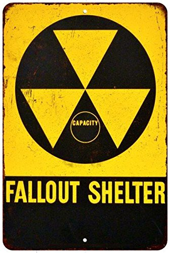 Fallout Shelter Vintage Look Reproduction 8x12 Metal Sign 8120551 ()