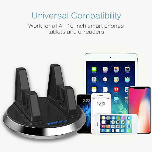 Rotatable Cell Phone Stand MEIDI Portable Desktop Cell Phone Stand for iPhone X/8/8 Plus/7/7 Plus, Samsung Galaxy S8/S7/Note 8, iPad Pro 9.7/10.5/Air/Mini e-readers and More (Silver) delicate