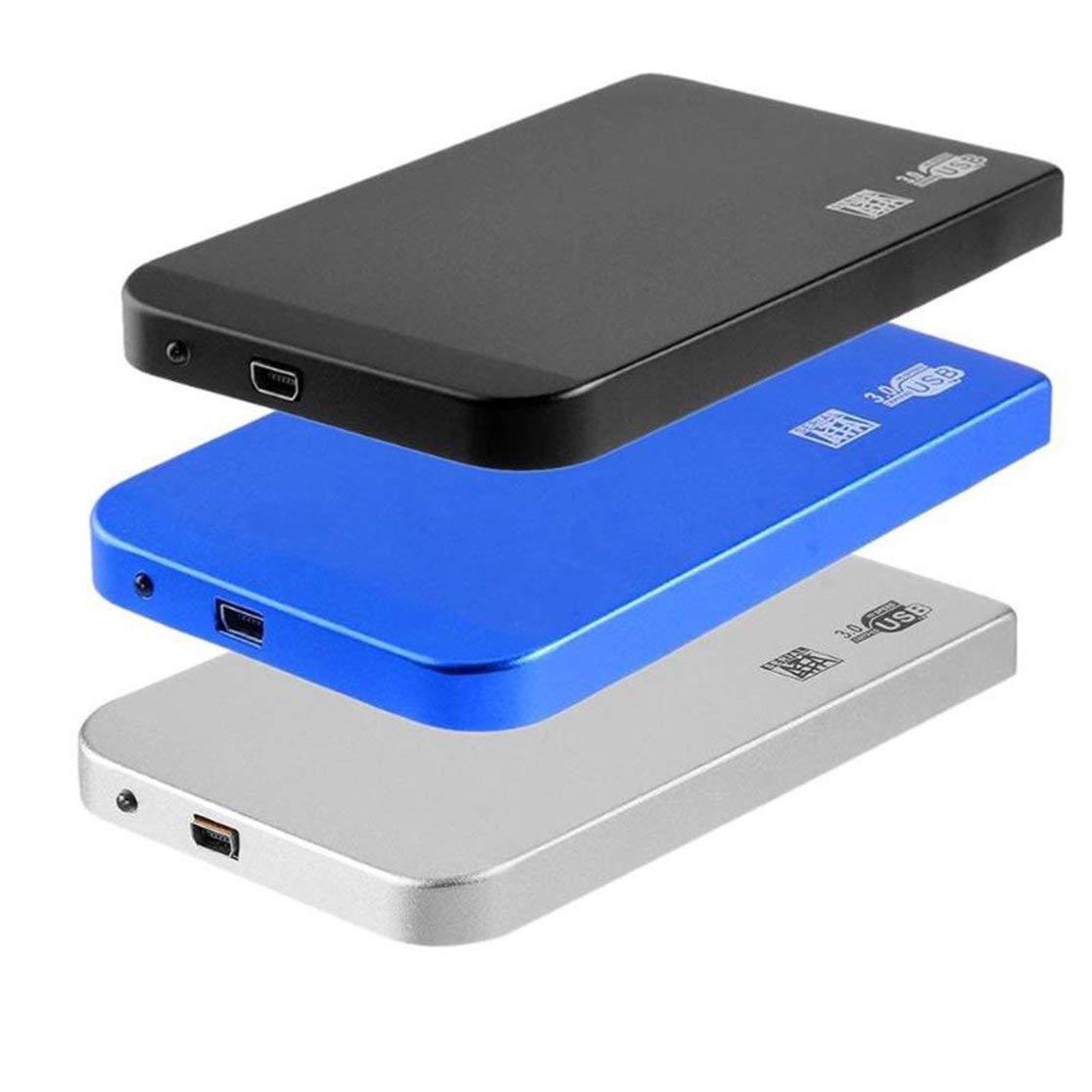 LouiseEvel215 2,5-Zoll-Aluminiumlegierung Ultrad/ünne USB3.0-Festplattenbox die 3 TB Sata to USB3.0-Festplattenbox unterst/ützt