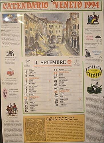 Calendario Veneto.Calendario Veneto 1994 N A Amazon Com Books