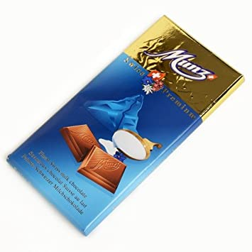 Amazon.com : Munz Swiss Chocolate Bar - Milk Chocolate (100 gram ...