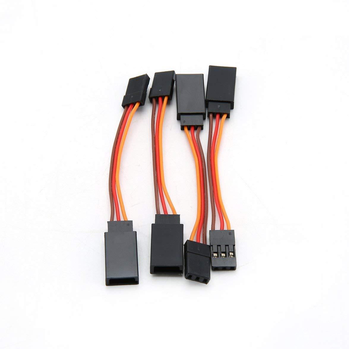 Kongqiabona Jr Cable de Cable de Control Remoto para autom/óvil 10 pcs 50//100//150//200//300//500 Mm Extensi/ón servo Cable de extensi/ón Cable Extensor L/ínea RC Helic/óptero