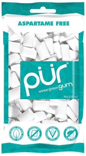 Pur Gum, Wintergreen Mint, 2.82-Ounce, 12 Pack