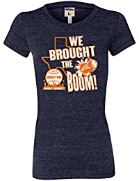Womens We Brought The Boom Houston World Champs Tri-Blend T-shirt