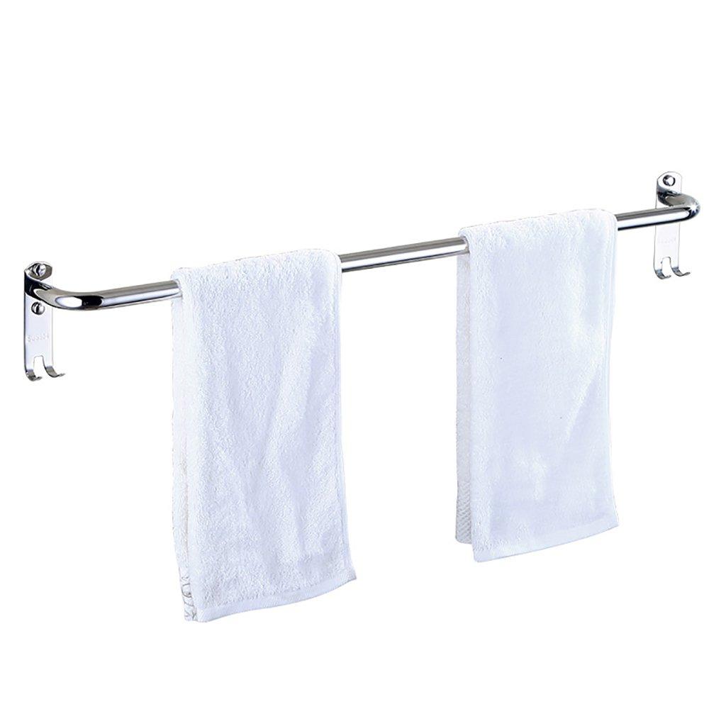 タオルバー/シングルロッドステンレス鋼厚いバスルームタオルバー壁掛けのバスルームタオル棚、 (サイズ さいず : 50 cm 50 cm) B07DHFNMDJ 50 cm 50 cm 50 cm 50 cm