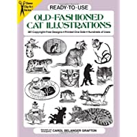 Ready-to-Use Old-Fashioned Cat Illustrations: 381 Copyright-Free Designs, Printed