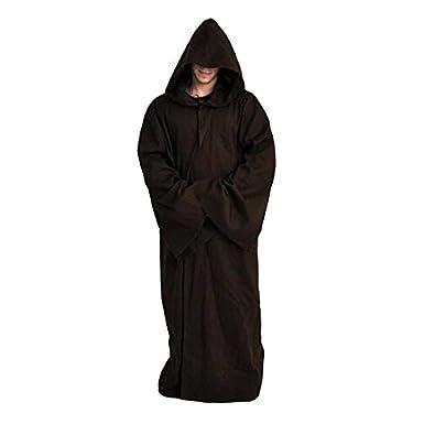 Daiendi, disfraz de Jedi Kenobi de Star Wars, capa de adulto con capucha Marrón marrón XXL