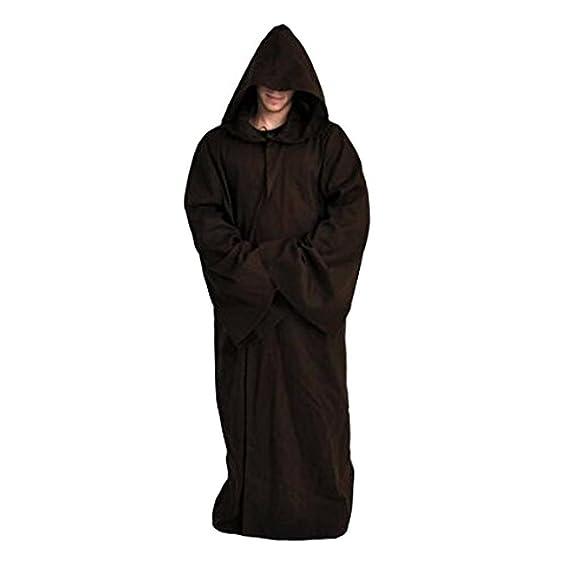 Daiendi, disfraz de Jedi Kenobi de Star Wars, capa de adulto con capucha
