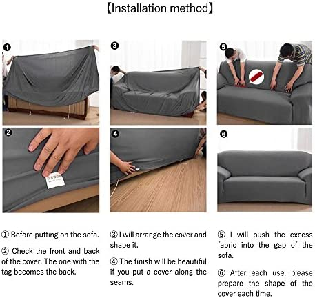 HM&DX Plush Sofa cover Stretch sofa slipcover,Anti-slip Stain resistant Solid color Furniture protector for 1,2,3,4 cushion Couch cover-E Chair