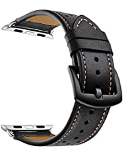 Elehome Leather Watch Band for iWatch Series 1/2/3/4