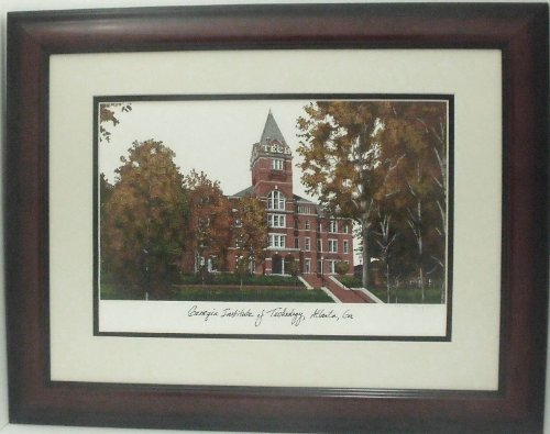 Georgia Institute of Technology-georgia Tech. Framed Collegiate (Tech University Framed Lithograph)