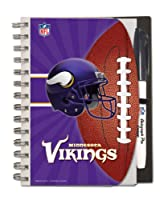 Minnesota Vikings Deluxe Hardcover, 5 x 7 Inches Autograph Book and Pen Set, Team Colors (12025-QUP)