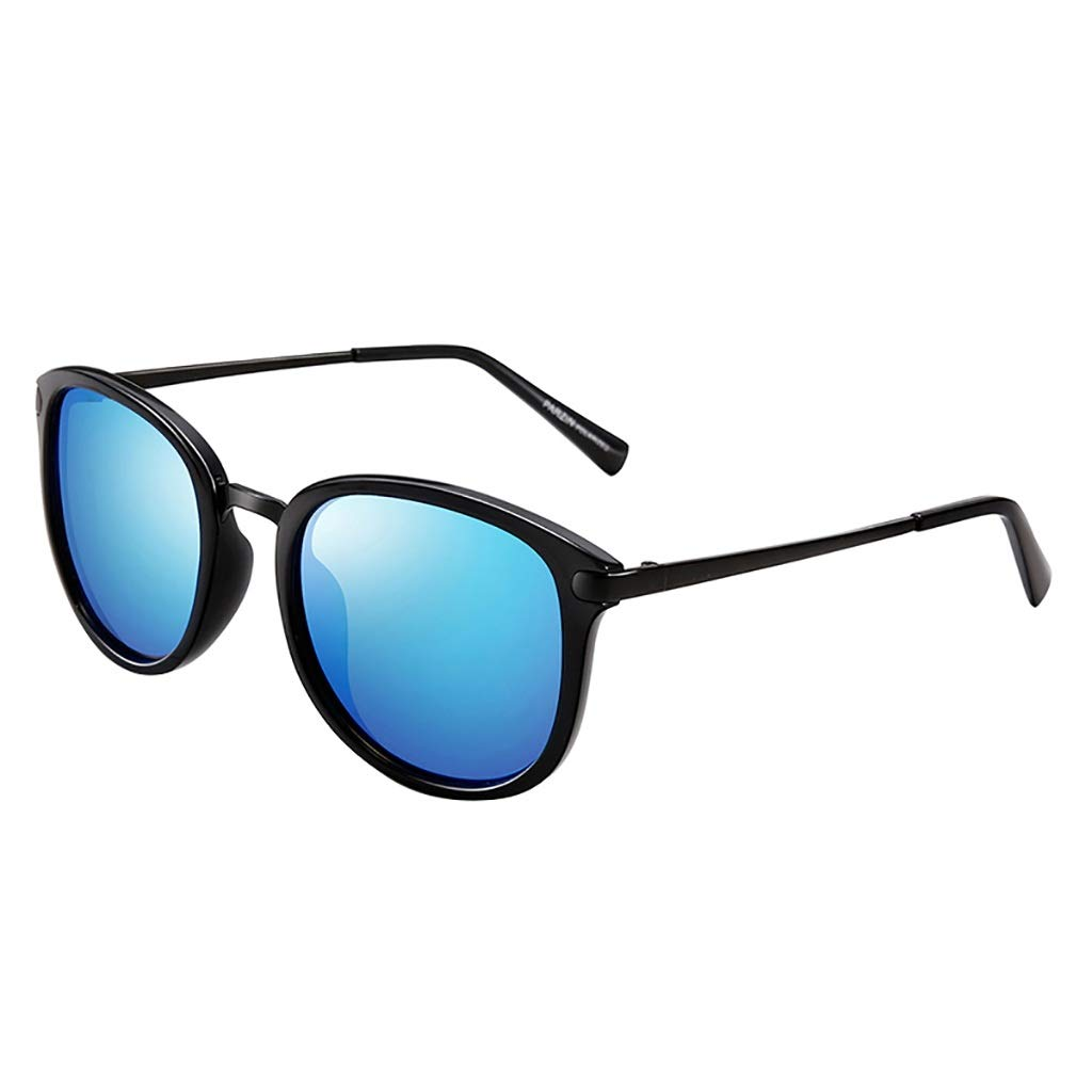 Ultra Lightweight Half Round Polarized Sunglasses, 100% UV PredectionBlack