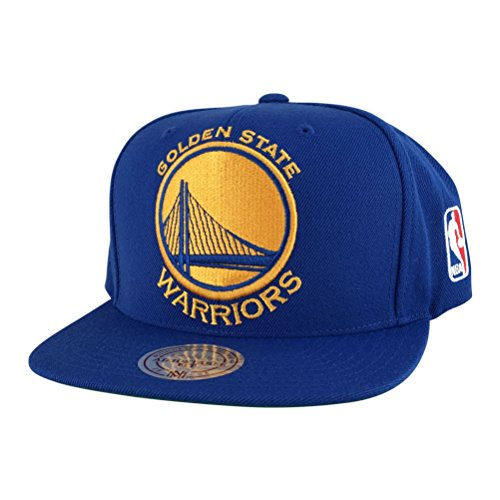 Mitchell and Ness Golden State Warriors Blue Xl Logo Snapback Hat Cap