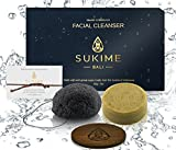 Natural Spa Gift Baskets For Women by Sukime. Unique Gift Sets for Men. Moringa & Coconut Face Wash Bar, Charcoal Scrub Sponge. Bath & Beauty. Exfoliate, Nourish, Moisturize. Vegan Gifts.