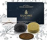 Natural Spa Gift Baskets For Women by Sukime. Unique Gift Sets for Men. Moringa & Coconut Face Wash Bar, Charcoal Scrub Sponge. Bath & Beauty. Exfoliate, Nourish, Moisturize. Vegan Gifts.