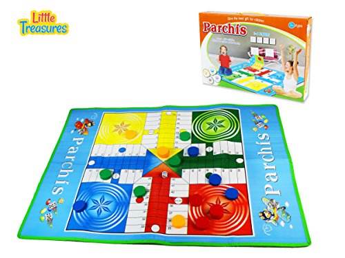 Giant Parchis Game Set for Indoor and Outdoor Game Playset