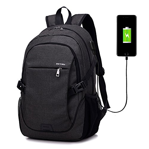 Abshoo Classical Casual Laptop Backpack for College Vintage Backpack School Bookbag (Black)