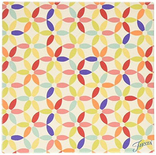 Thirstystone Stoneware Fiesta Kitchen Flower Trivet, Multicolor