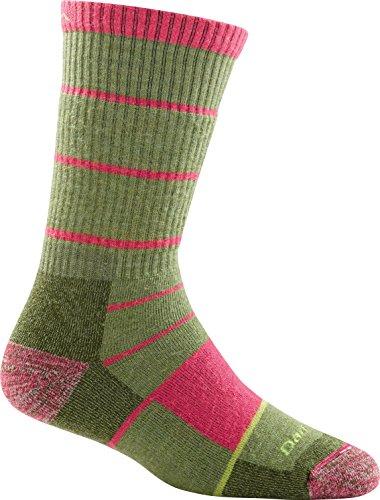 Darn Tough Summit Stripe Full Cushion Boot Sock - Women's Willow Medium DISCONTINUED
