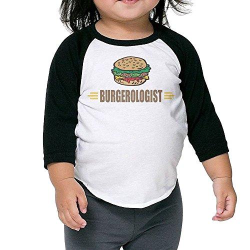 SH-rong Funny Hamburger Toddler Essential T-shirt Size3 Toddler