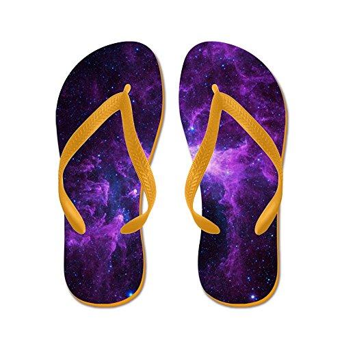 Cafepress Purple Galaxy - Infradito, Divertenti Sandali Infradito, Sandali Da Spiaggia Arancione
