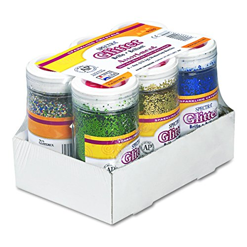 (Pacon Spectra Glitter Sparkling Crystals, Assorted Colors, 4-Ounce, 6-Pack)