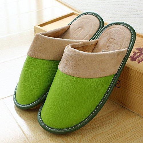 mhgao Lady algodón Zapatillas Casual caliente en otoño y invierno piel Zapatillas 1
