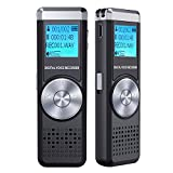 Digital Voice Recorder, TENSAFEE 8GB Audio Voice Activated Recorder Rechargeable, Portable Dictaphone Sound Recorder MP3 Player for Lectures/Meetings/Interviews/Class