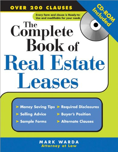The Complete Book of Real Estate Leases
