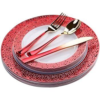 Amazon.com: Laura Stein Juego de 32 platos de fiesta ...