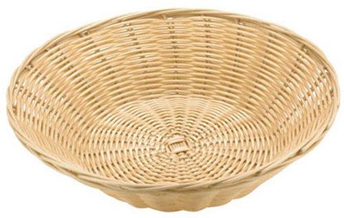 Paderno World Cuisine Splayed Round Polyrattan Bread Basket, 9-7/8-Inch