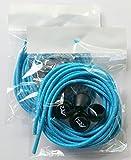 Fast Compete Laces No-tie Reflective Elastic Button-Lock Shoe Laces Teal Blue (2 pair) For Sale