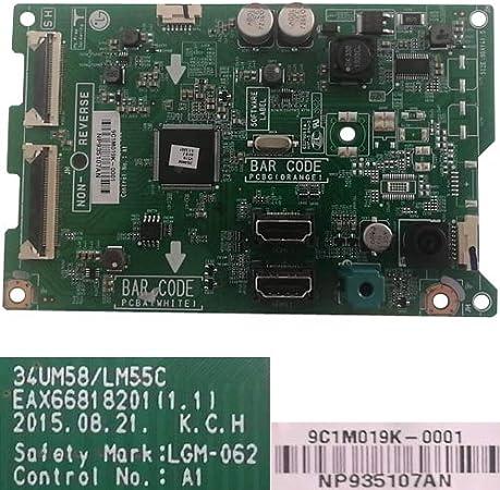 Desconocido Placa Main EAX66818201(1.1), LG 25UM58-P: Amazon.es: Electrónica
