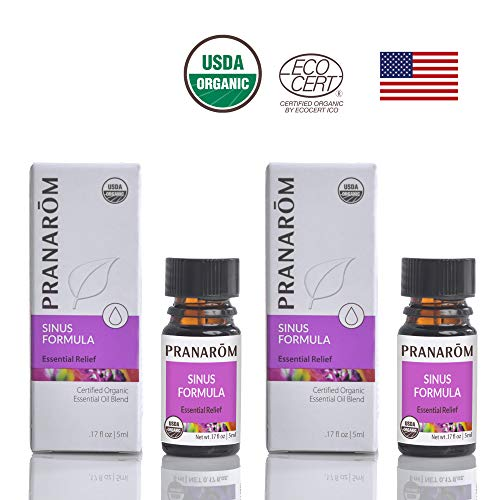 Price comparison product image Pranarom - Sinus Formula Certified USDA and ECOCERT Organic Essential Oil 5ml 2 Pack