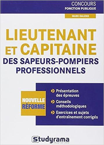 Concours de lieutenant et de capitaine des sapeurs-pompiers professionnels: 9782759018413: Amazon.com: Books