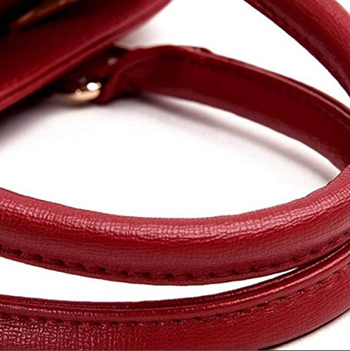 DHFUD Bolso Bandolera Para Mujer Bolso Bandolera PU Fashion Gray