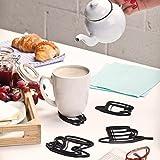 Set of 4 Silicone Drink Coasters Peleg Design Sketch Coasters.