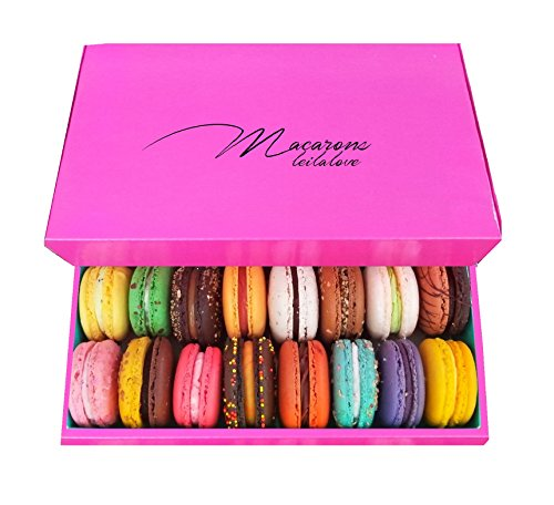 Leilalove Macarons - Paris Macarons 15 Collections of 10 Flavors - Lady in the Pink by LeilaLove,Inc