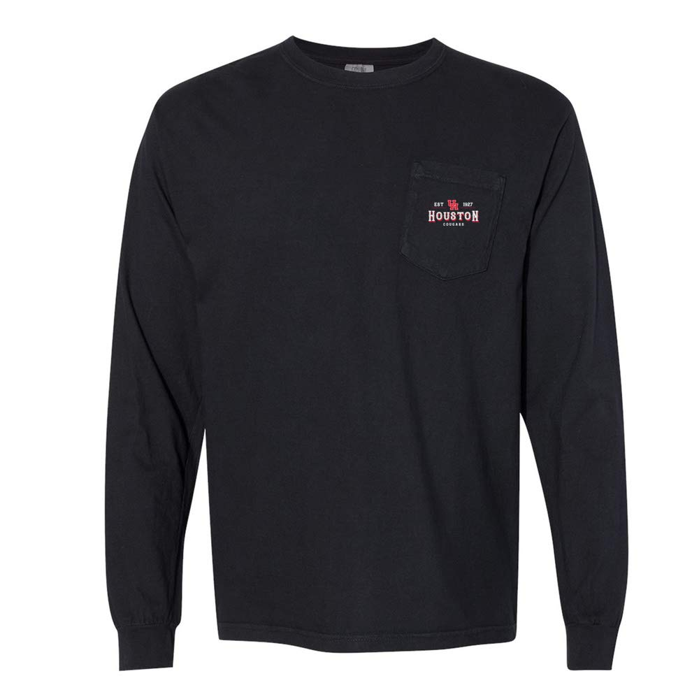 NCAA Houston Cougars RYLHOU12 Unisex Long Sleeve Pocket T-Shirt