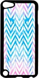 Watercolor Splash Chevrons- Case for the Apple Ipod 5th Generation-Hard Black Plastic
