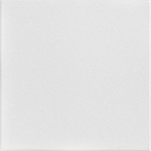 A la Maison Ceilings 814 Basic White  Styrofoam Ceiling Tile Package Of 8 Tiles Plain White