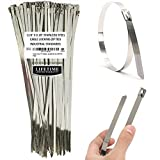 zip ties silver - Aroma Trees 100 pcs Metal Zip Ties 11.8