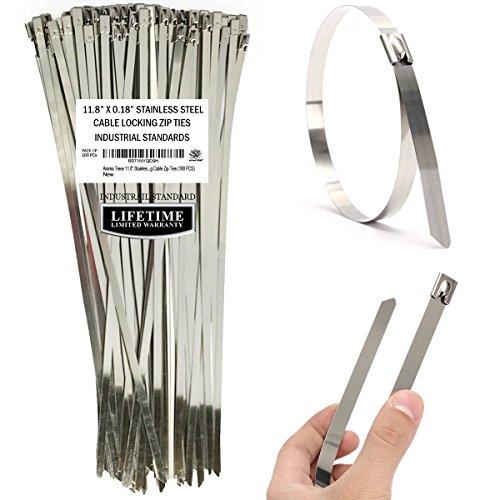 Aroma Trees 100 pcs Metal Zip Ties 11.8