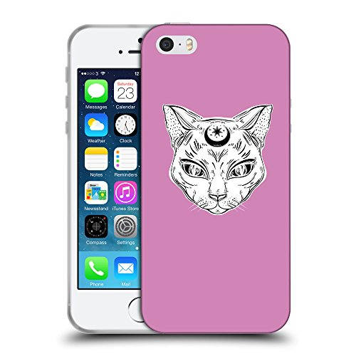GoGoMobile Coque de Protection TPU Silicone Case pour // Q09640618 lune Chat 2 Bronze // Apple iPhone 5 5S 5G SE