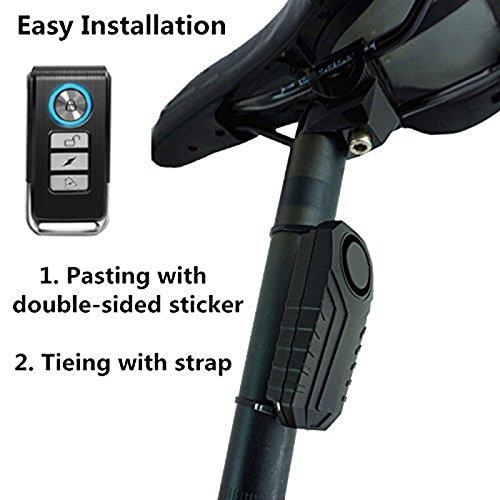 12V Wireless Motorrad Fahrrad Wegfahrsperre Alarm 13dB Remote Diebstahlsicherung Vibrationssicherheitssystem Fernbedienungen