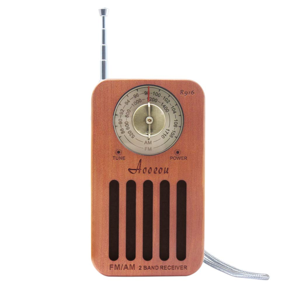 Radio de Poche AM FM, Mini-radios Anntanna câblées Portables de Style Vintage pour Les déplacements à Pied Jogging