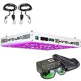 Kind K5 XL750 LED Grow Light w/ Ratchet Light Hangers and Method Seven Grow Room Glasses (Random Pair Selected)